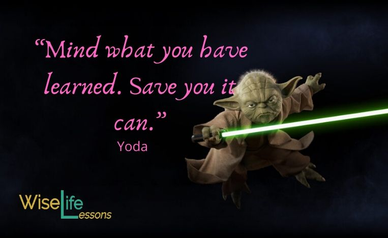 """""""Mind what you have learned. Save you it can."""""""