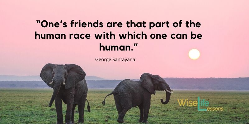 """""""One's friends are that part of the human race with which one can be human."""""""