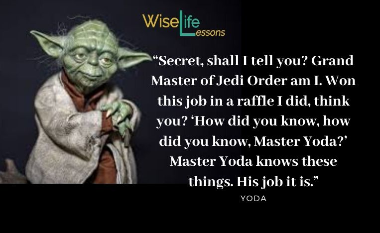 """""""Secret, shall I tell you_ Grand Master of Jedi Order am I. Won this job in a raffle I did, think you"""