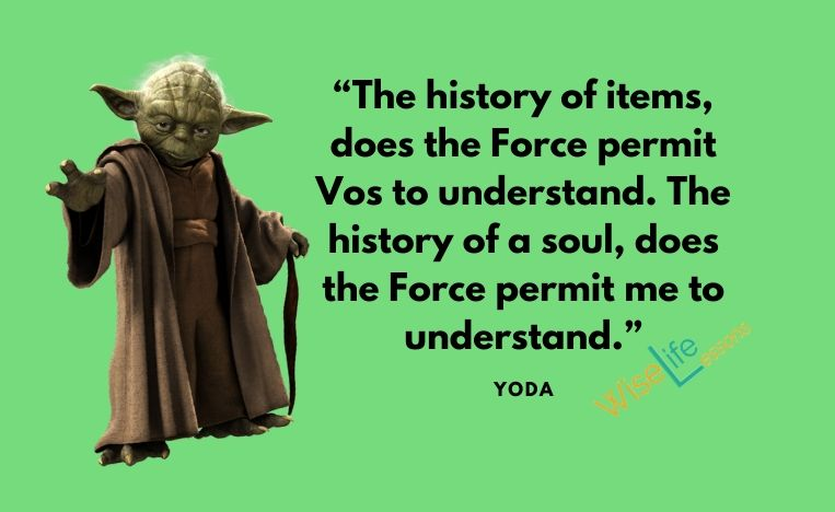 """""""The history of items, does the Force permit Vos to understand. The history of a soul, does the Force permit me to understand."""""""