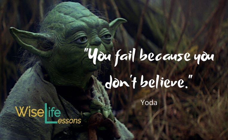"""""""You fail because you don't believe."""""""