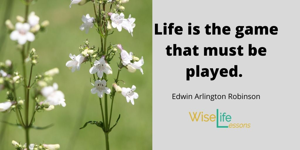Life is the game that must be played.