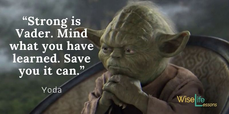 """""""Strong is Vader. Mind what you have learned. Save you it can."""""""