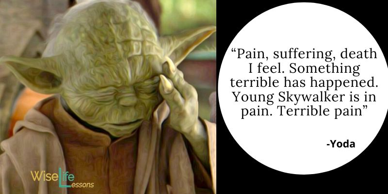 Pain, suffering, death I feel. Something terrible has happened. Young Skywalker is in pain. Terrible pain