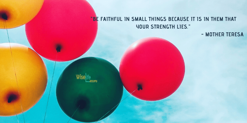 Be faithful in small