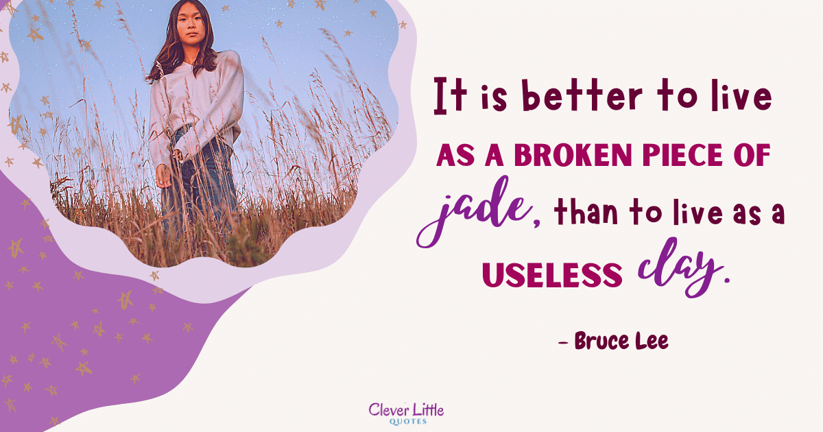 It is better to live as a broken piece of jade