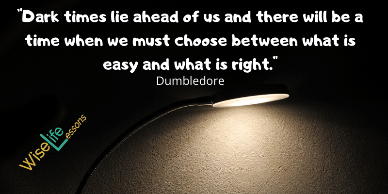 Dumbledore Quotes at Wise Life Lessons