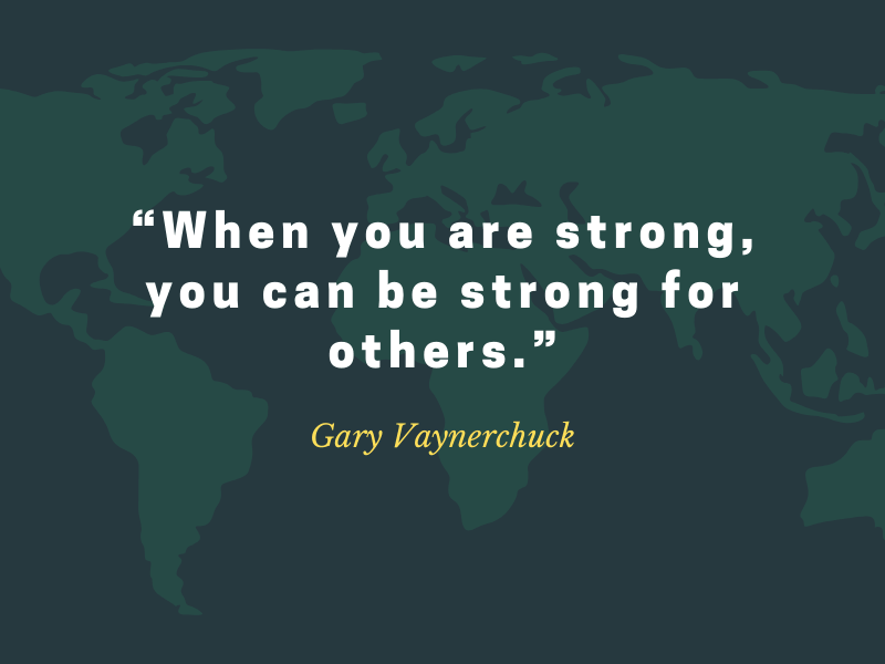 When you are strong, you can be strong for others