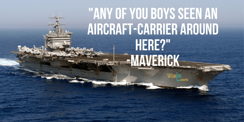 Any of you boys seen an aircraft-carrier around here