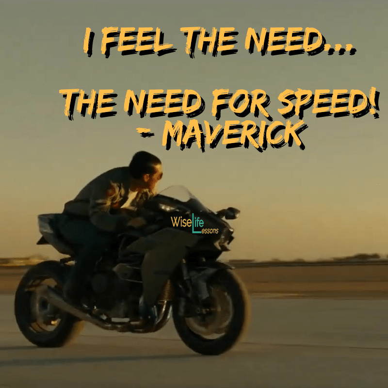 I feel the need…the need for speed