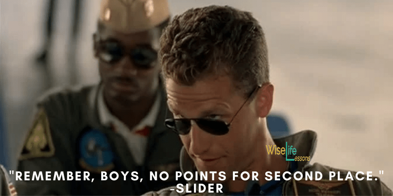 Remember, boys, no points for second place